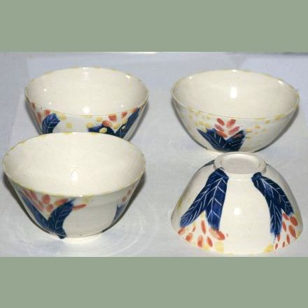 """4 Small Bowls"" stoneware with coloured slips"